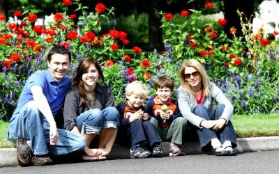 Family with Flowers